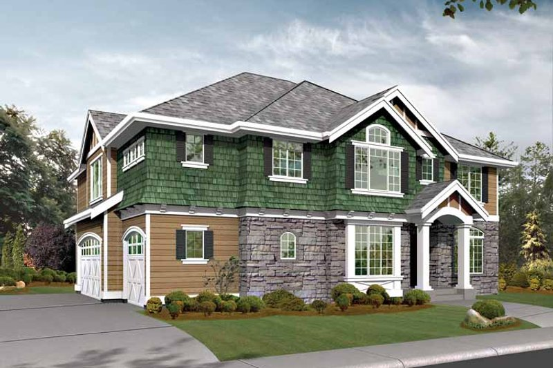 Craftsman Exterior - Front Elevation Plan #132-446