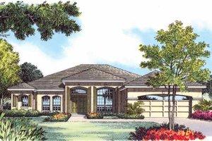 House Plan Design - Mediterranean Exterior - Front Elevation Plan #1015-13