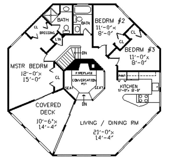 Contemporary Floor Plan - Upper Floor Plan Plan #314-293