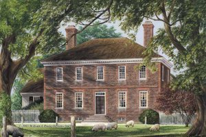 Colonial Exterior - Front Elevation Plan #137-347