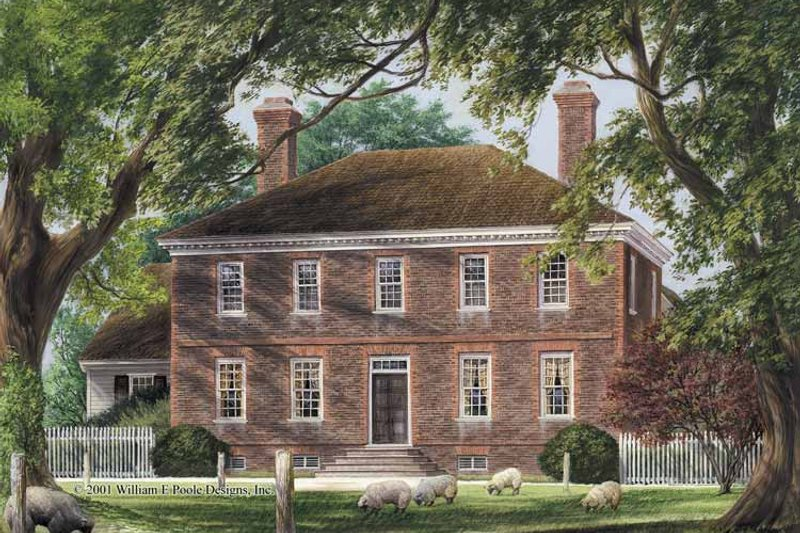 Colonial Style House Plan - 5 Beds 4 Baths 4555 Sq/Ft Plan #137-347