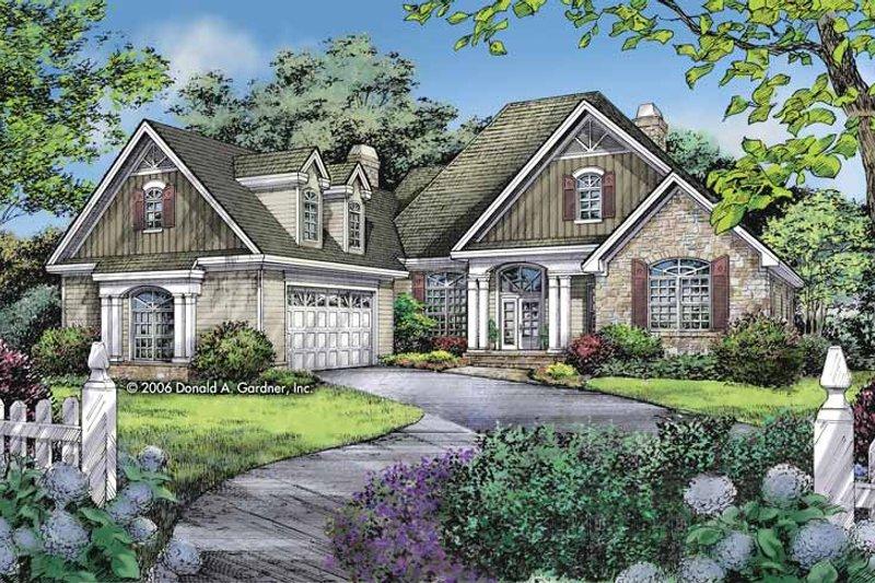 Dream House Plan - Craftsman Exterior - Front Elevation Plan #929-802