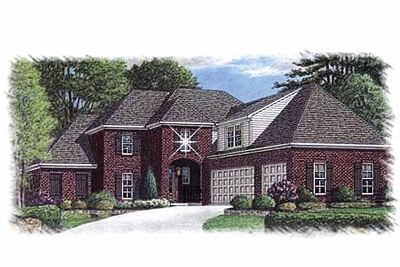 Traditional Exterior - Front Elevation Plan #15-388 - Houseplans.com