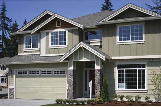 Contemporary Exterior - Front Elevation Plan #951-22