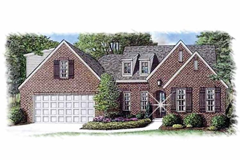 Country Exterior - Front Elevation Plan #15-386