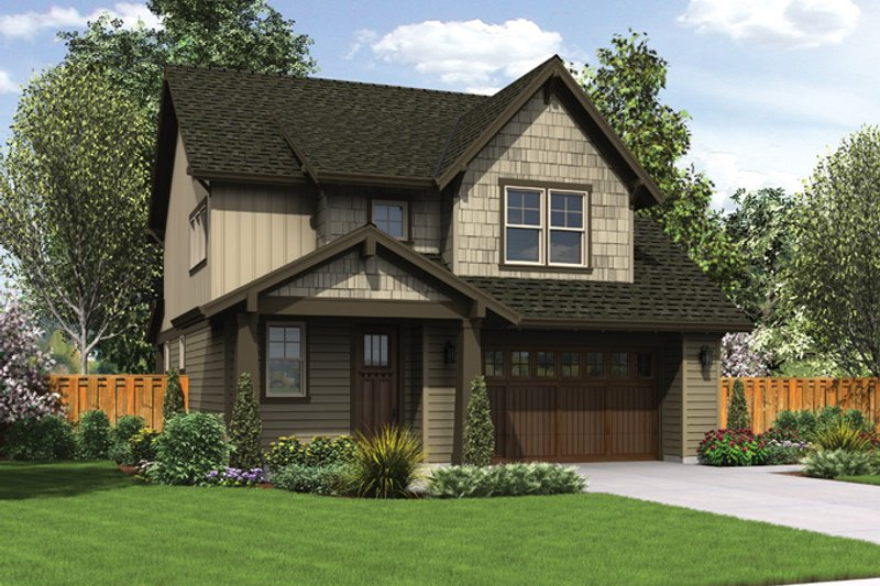 Craftsman Exterior - Front Elevation Plan #48-906