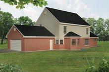 Colonial Exterior - Rear Elevation Plan #1061-2