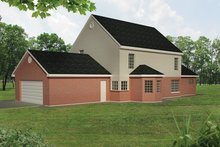 House Plan Design - Colonial Exterior - Rear Elevation Plan #1061-2