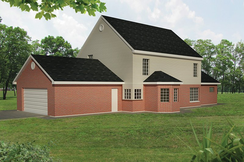 Colonial Exterior - Rear Elevation Plan #1061-2 - Houseplans.com