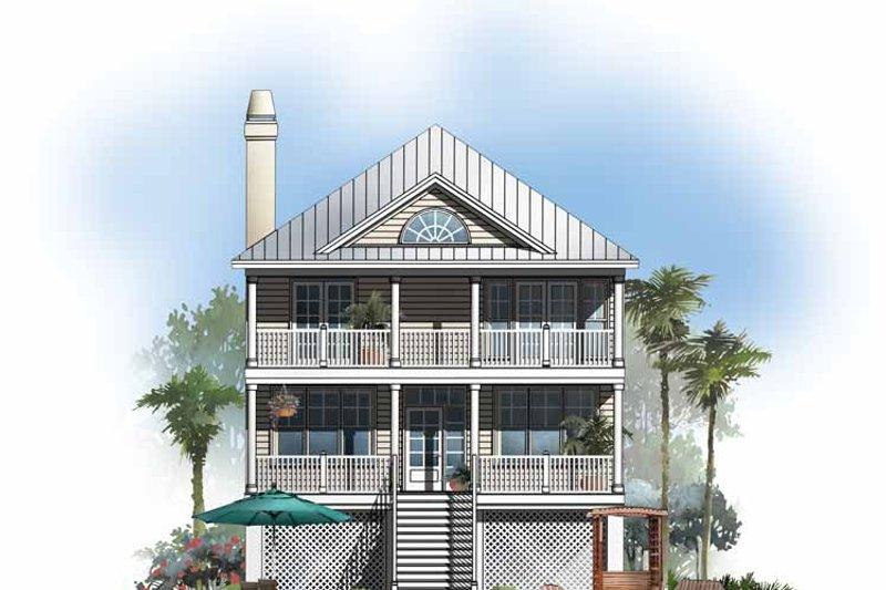 Classical Exterior - Rear Elevation Plan #929-506 - Houseplans.com