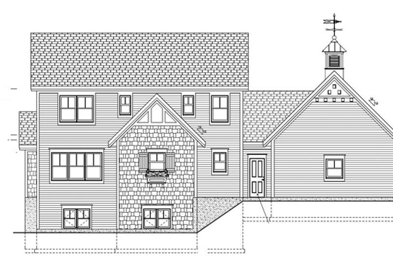Country Exterior - Rear Elevation Plan #928-96 - Houseplans.com