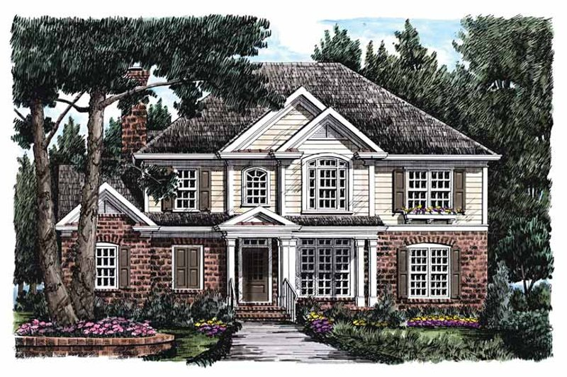 Colonial Exterior - Front Elevation Plan #927-835