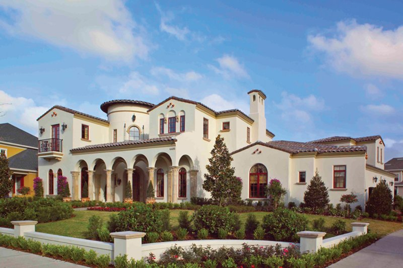 Mediterranean Exterior - Front Elevation Plan #1058-1 - Houseplans.com