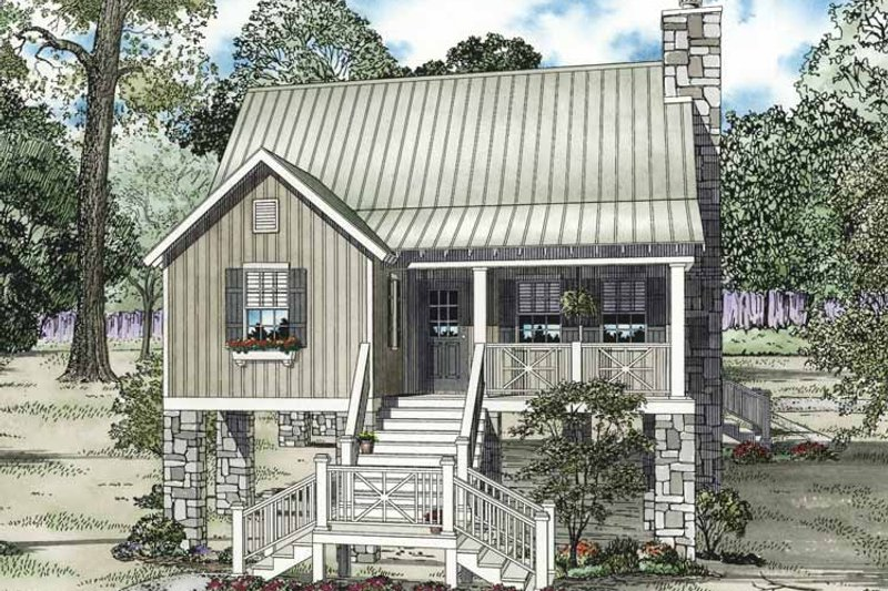 Mediterranean Exterior - Front Elevation Plan #17-3301 - Houseplans.com