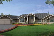 Architectural House Design - Craftsman Exterior - Front Elevation Plan #132-552