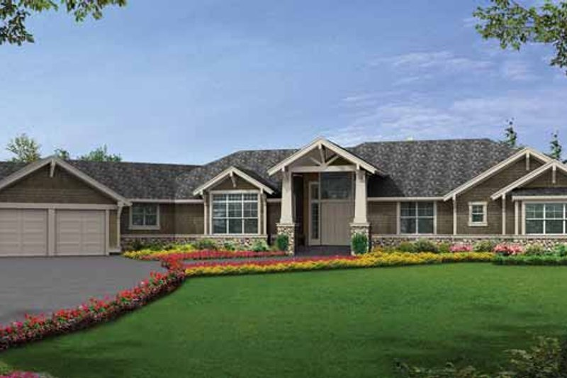 Dream House Plan - Craftsman Exterior - Front Elevation Plan #132-552