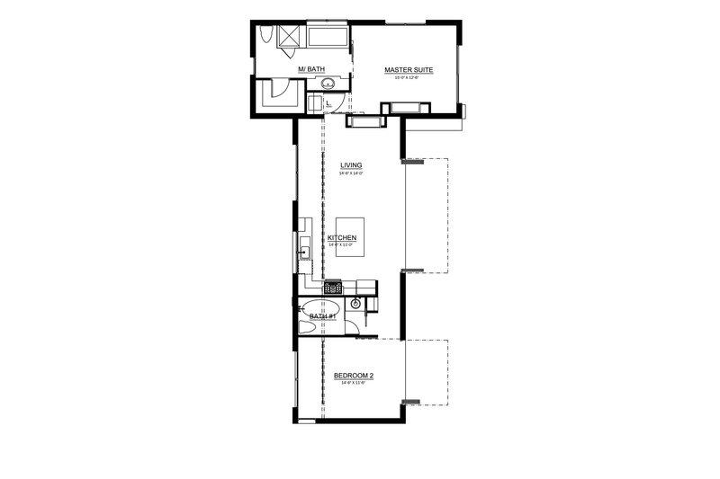 Traditional Floor Plan - Main Floor Plan Plan #484-11