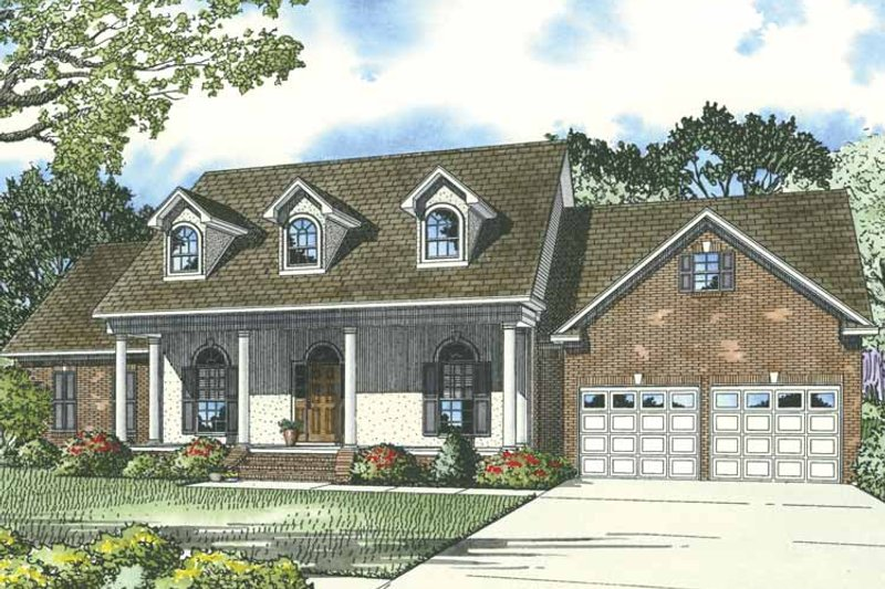 Country Exterior - Front Elevation Plan #17-3277 - Houseplans.com