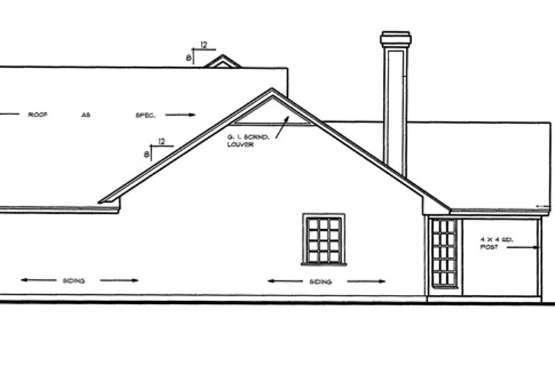 Country Exterior - Other Elevation Plan #42-460 - Houseplans.com
