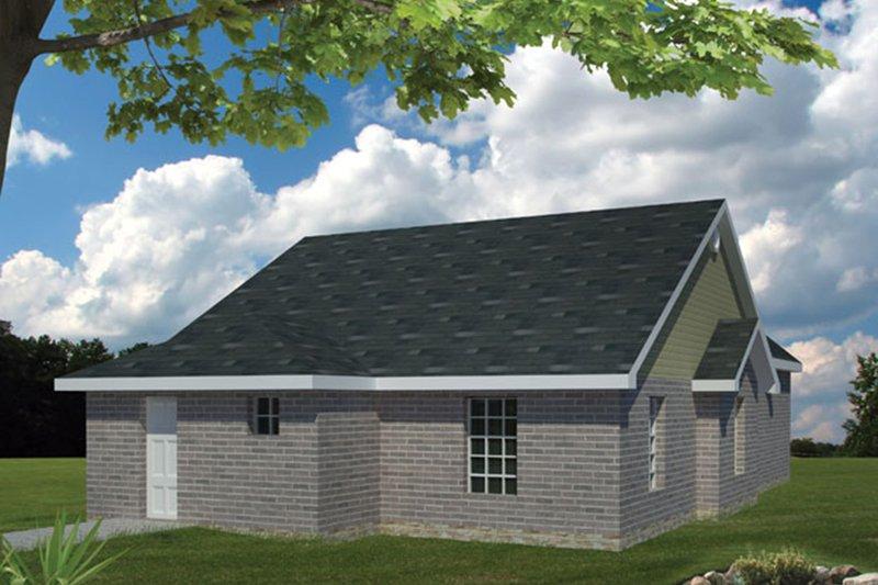 Ranch Exterior - Rear Elevation Plan #1061-23 - Houseplans.com