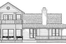 Country Exterior - Rear Elevation Plan #72-124