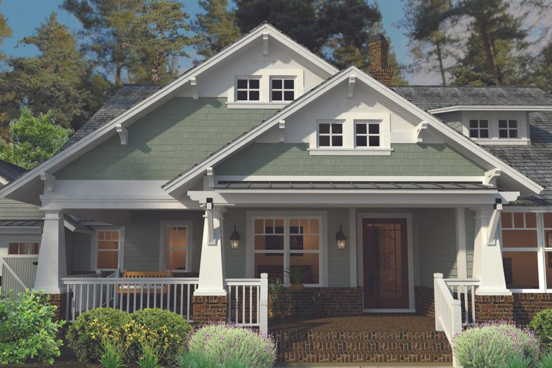 Craftsman Exterior - Front Elevation Plan #120-249 - Houseplans.com