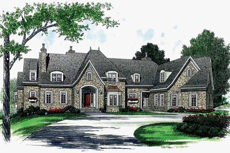 Architectural House Design - Country Exterior - Front Elevation Plan #453-367