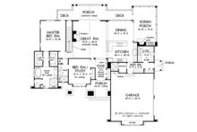 European Floor Plan - Main Floor Plan Plan #929-1015