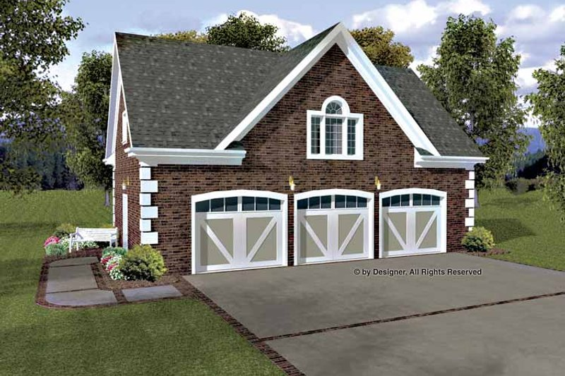 Colonial Exterior - Front Elevation Plan #56-674