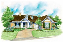 House Plan Design - Country Exterior - Front Elevation Plan #930-178