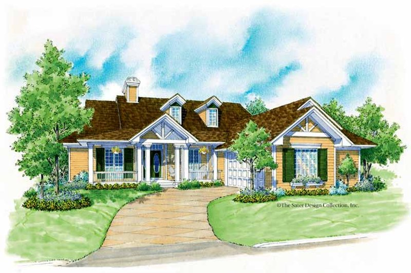 Country Exterior - Front Elevation Plan #930-178