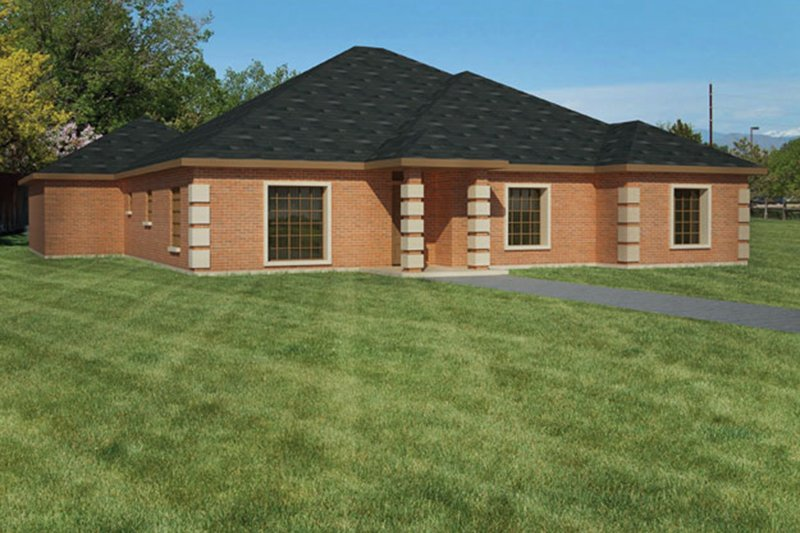 Ranch Exterior - Front Elevation Plan #1061-22 - Houseplans.com