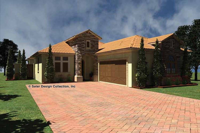 Mediterranean Exterior - Front Elevation Plan #930-433