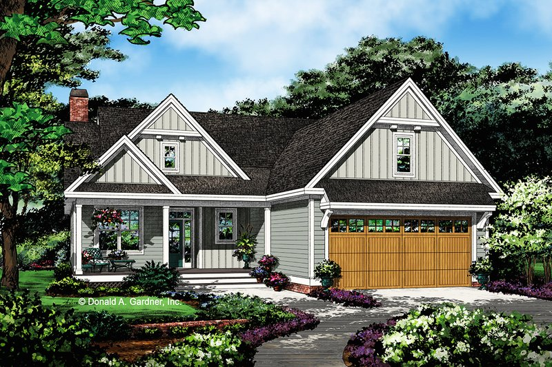 Architectural House Design - Country Exterior - Front Elevation Plan #929-1076