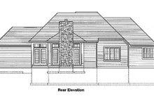 Architectural House Design - European Exterior - Rear Elevation Plan #46-170