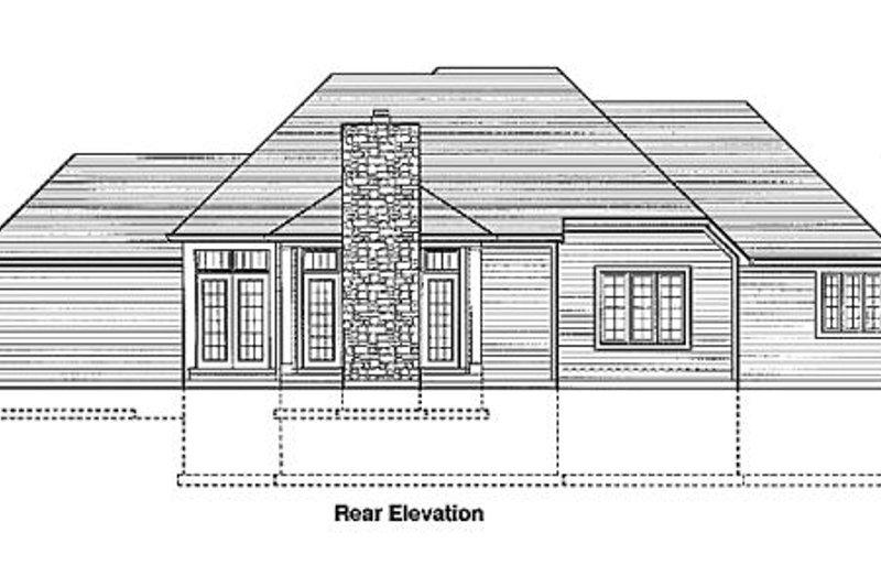 European Exterior - Rear Elevation Plan #46-170 - Houseplans.com