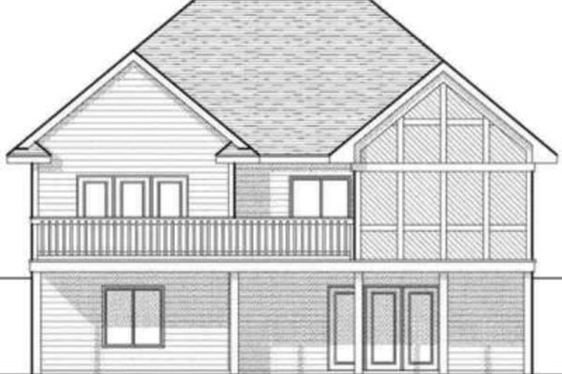 Traditional Exterior - Rear Elevation Plan #70-580 - Houseplans.com