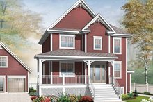 Country Exterior - Front Elevation Plan #23-2503