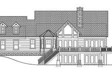 Log Exterior - Rear Elevation Plan #417-564