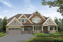 Craftsman Exterior - Front Elevation Plan #132-502