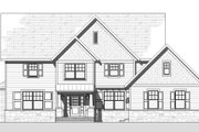Traditional Style House Plan - 4 Beds 2.5 Baths 3294 Sq/Ft Plan #901-117 Exterior - Front Elevation