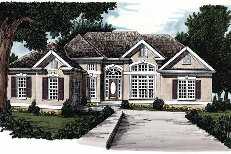 House Plan Design - Mediterranean Exterior - Front Elevation Plan #927-86