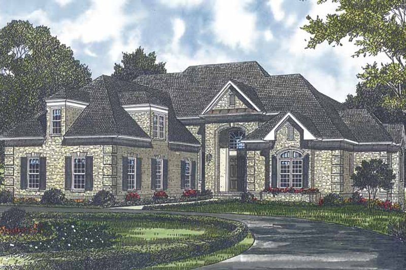 Dream House Plan - Traditional Exterior - Front Elevation Plan #453-562