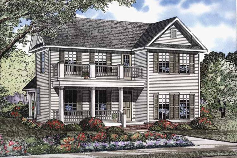 Classical Exterior - Front Elevation Plan #17-2947