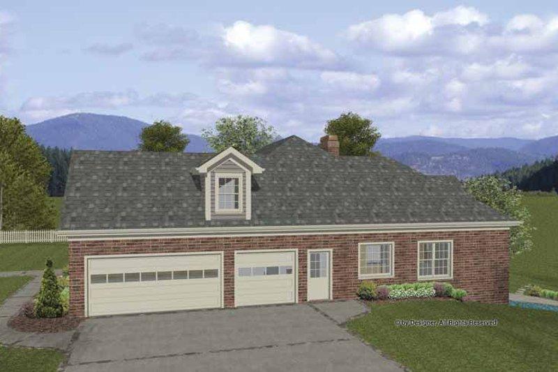 Craftsman Exterior - Front Elevation Plan #56-687 - Houseplans.com