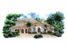 House Plan Design - Mediterranean Exterior - Front Elevation Plan #1017-107