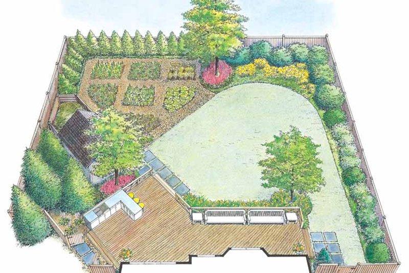 Traditional Exterior - Rear Elevation Plan #1040-63 - Houseplans.com
