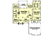 European Style House Plan - 3 Beds 2 Baths 1937 Sq/Ft Plan #430-116 Floor Plan - Main Floor Plan