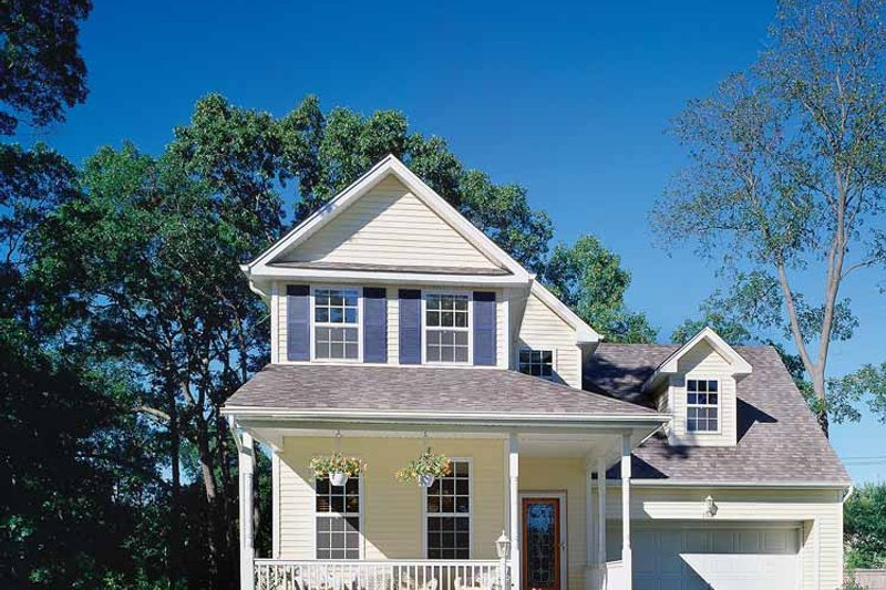 Country Exterior - Front Elevation Plan #314-183 - Houseplans.com