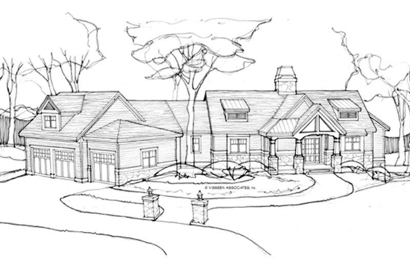 Architectural House Design - Craftsman Exterior - Front Elevation Plan #928-253